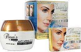 Parfumuri și produse cosmetice Set - Hemani Fleurs Anti Wrinkle Set (f/cr/80ml + soap/30ml)