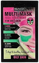 Parfumuri și produse cosmetice Mască pentru ten gras - Beauty Formulas 3-Step Multi Mask Face Treatment Oily Skin