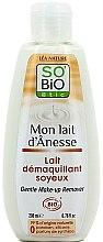 Parfumuri și produse cosmetice Lapte demachiant pentru față - So'Bio Etic Gentle Make-up Remover