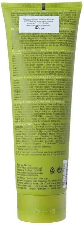 Balsam de păr - Madara Cosmetics Gloss & Vibrance Conditioner — Imagine N2