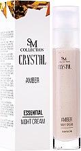 Parfumuri și produse cosmetice Cremă de noapte cu extract de chihlimbar natural - SM Collection Crystal Amber Night Cream