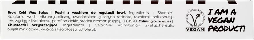 Set pentru corecția sprâncenelor - Andmetics Brow Wax Strips Men (strips/4x2pc + strips/4x2pc + wipes/4pc) — Imagine N3