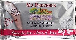 "Parfumuri și produse cosmetice Săpun din Marsilia ""May Rose"" - Ma Provence Marseille Soap Rose of May"
