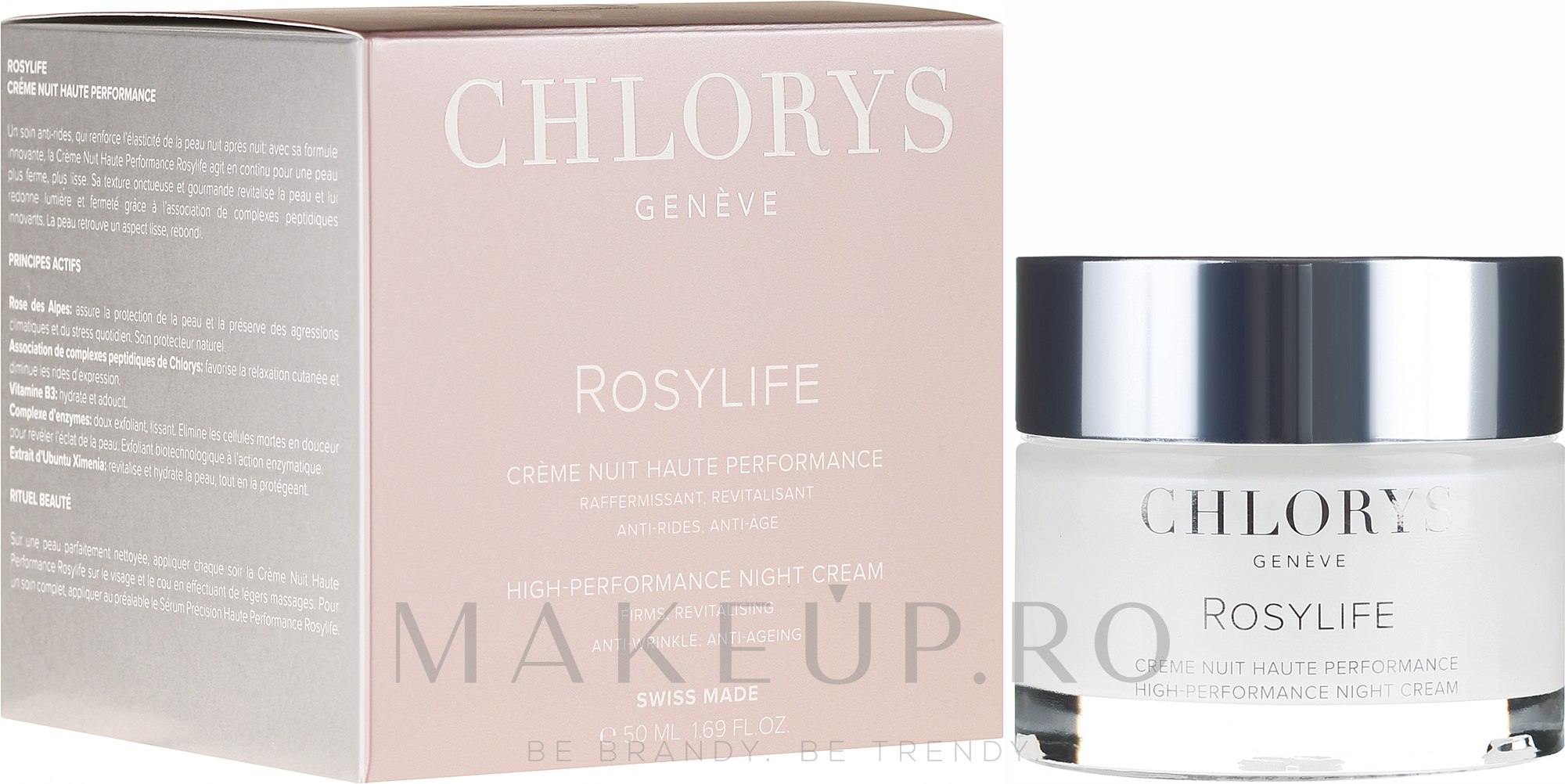 Cremă de noapte pentru față - Chlorys Rosylife High-Performance Night Cream — Imagine 50 ml