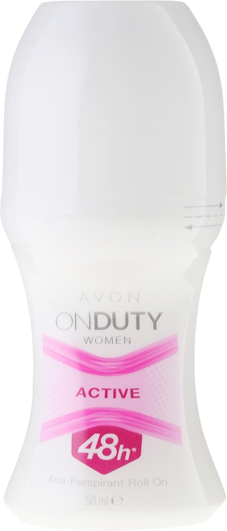 Antiperspirant Roll-On - Avon On Duty Woman Active 48h Anti-Perspirant Roll-On