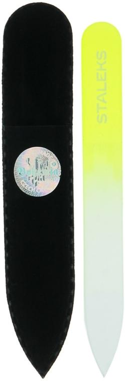 Pilă din cristal pentru unghii, F4-12-90, galben - Staleks (9cm) — Imagine N1