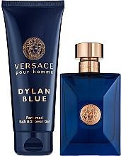 Parfumuri și produse cosmetice Versace Pour Homme Dylan Blue - Set (edt/100ml + sh/gel/100ml)