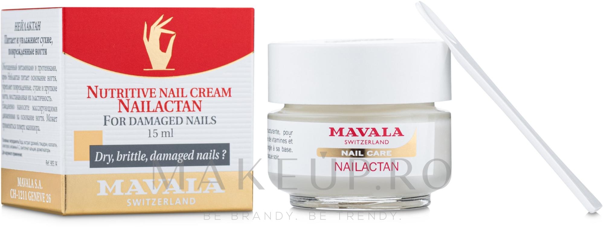 Cremă pentru unghii deteriorate - Mavala Nailactan — Imagine 15 ml