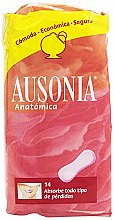 Parfumuri și produse cosmetice Absorbante de zi Anatomica Sanitary Towels, 14 buc - Ausonia