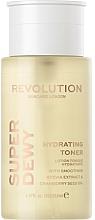 Parfumuri și produse cosmetice Toner emolient și hidratant pentru față - Revolution Skincare Superdewy Moisturizing Toner