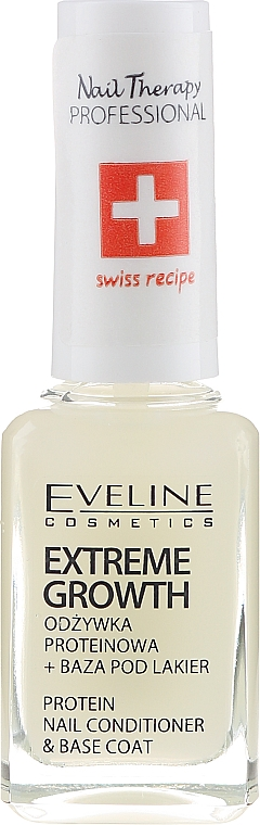 Întăritor pentru unghii - Eveline Cosmetics Nail Therapy Professional Protein Extreme Growth — Imagine N2