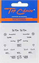 Parfumuri și produse cosmetice Abțibilduri pentru unghii, 42317, 6 buc. - Top Choice Word Golds Silver