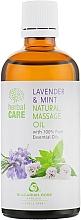 """Parfumuri și produse cosmetice Ulei pentru masaj """"Lavandă și Mentă"""" - Bulgarian Rose Herbal Care Natural Massage Oil"""