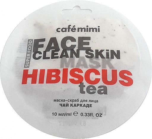 """Mască-scrub pentru față """"Hibiscus și Jasmine"""" - Cafe Mimi Face Mask — Imagine N1"""