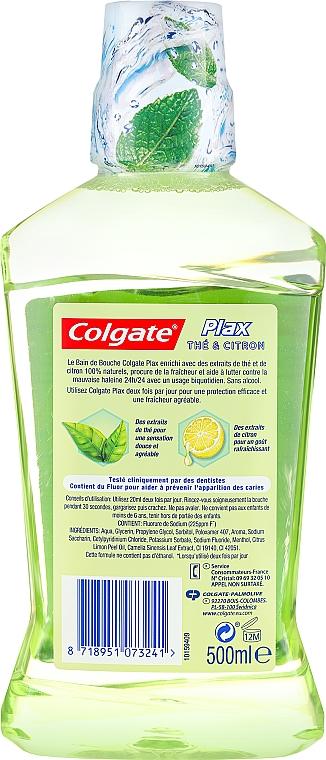 Agent de clătire pentru cavitatea bucală - Colgate Plax Mouthwash Lemon And Tea — Imagine N2