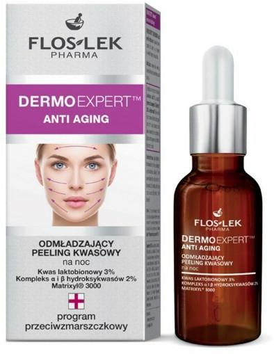 Peeling acid de întinerire pentru față - Floslek Dermo Expert Anti Aging Peeling