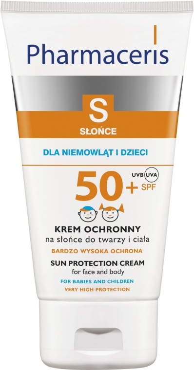 Tratament cu protecție solară, de față și corp pentru copii și nou-născuți SPF 50+ - Pharmaceris S Sun Protection Cream For Babies and Children SPF 50+