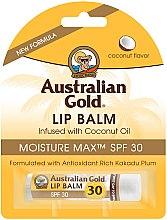 """Parfumuri și produse cosmetice Balsam de buze """"Cocos"""" - Australian Gold Lip Balm Infused With Coconut Oil SPF 30"""