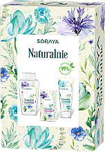 Parfumuri și produse cosmetice Set - Soraya Naturally (micellar water/400ml + f/gel/150ml + f/mask/17ml)