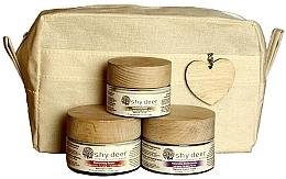 Parfumuri și produse cosmetice Set pentru îngrijirea pielii uscate și normale - Shy Deer Natural Ritual Set (cr/mask/50ml+cr/50ml+eye/cr/30ml+bag)