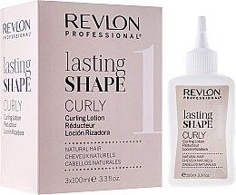 Parfumuri și produse cosmetice Set pentru ondularea chimică a părului natural - Revlon Professional Lasting Shape Curly Lotion Natural Hair (lot/3x100ml)
