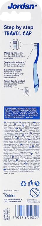 Periuță de dinți Stept 3 (6-9ani), moale - Jordan — Imagine N2