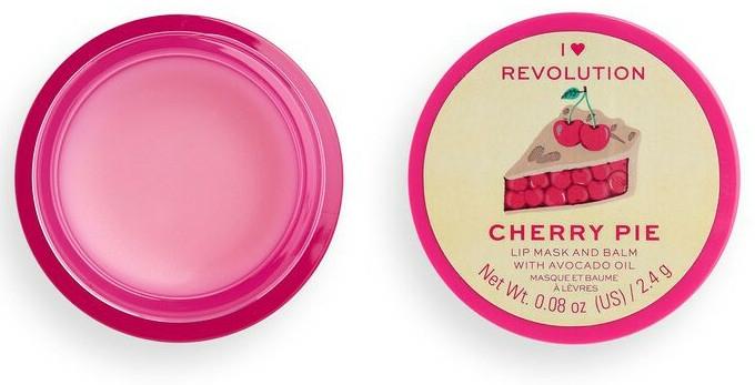 Balsam-mască de buze - I Heart Revolution Cherry Pie Lip Mask & Balm — Imagine N2