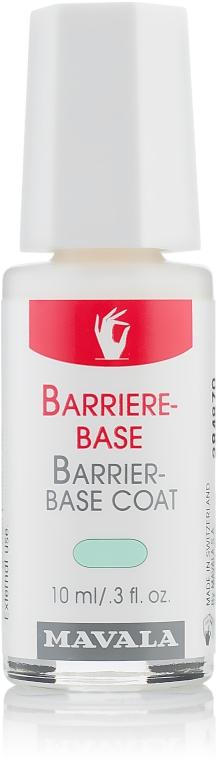 Acoperire de protecție pentru unghiile slabe și fragile - Mavala Barrier-Base Coat — Imagine N1