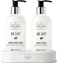 Parfumuri și produse cosmetice Set - Scottish Fine Soaps Au Lait Hand Set (soap/300ml + h/lot/300ml)