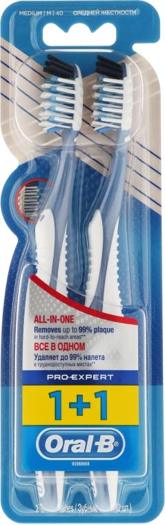 "Set periuțe de dinți ""All in one"" 40 duritate medie - Oral-B Pro-Expert CrossAction All in One — Imagine N1"