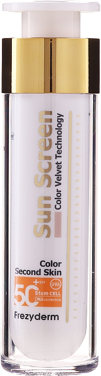 Cremă de protecție solară pentru față - Frezyderm Sun Screen Color Velvet Face Cream SPF 50+