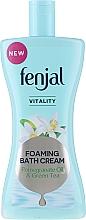 """Parfumuri și produse cosmetice Cremă-gel de duș """"Ulei de rodie și ceai verde"""" - Fenjal Vitality Pomegranate Oil & Green Tea Foaming Bath Cream"""