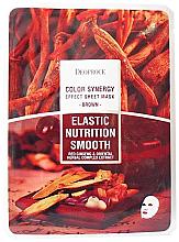 Parfumuri și produse cosmetice Mască din țesut pe bază de plante orientale și rădăcină de ginseng - Deoproce Color Synergy Effect Sheet Mask Brown