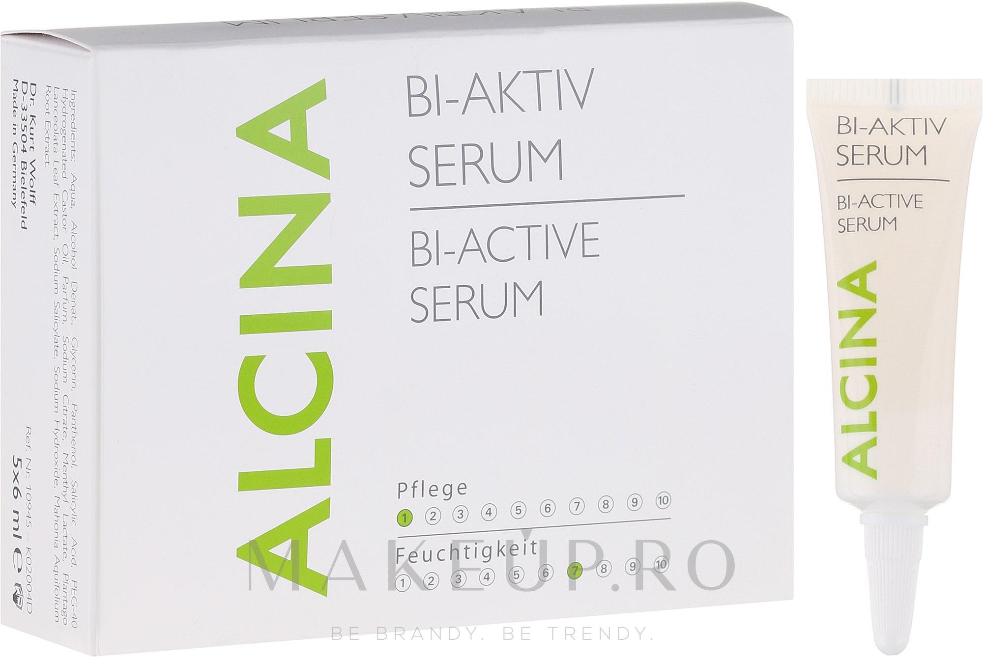 Ser bio-activ pentru scalp - Alcina Hair Care Bi Aktiv Serum — Imagine 5x6 ml