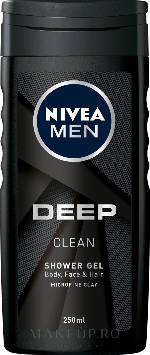 Gel de duș - Nivea Men Deep Clean Shower Gel — Imagine 250 ml