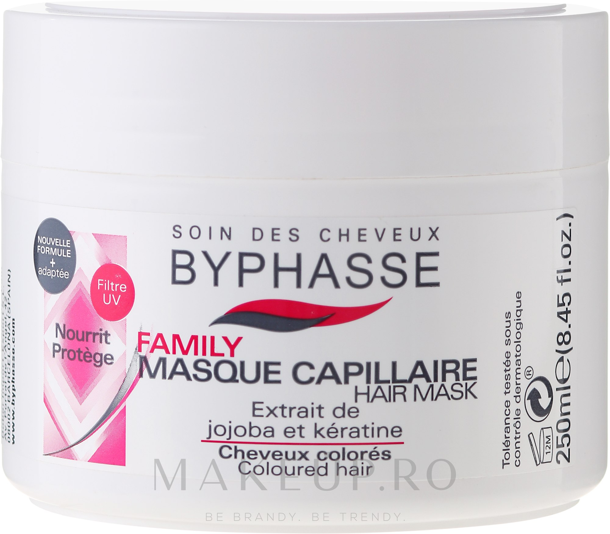 Mască pentru părul vopsit - Byphasse Family Coloured Hair Mask — Imagine 250 ml