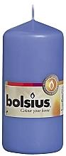 Parfumuri și produse cosmetice Lumânare cilindrică, albastră, 120/58 mm - Bolsius Candle