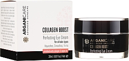 Parfumuri și produse cosmetice Cremă antirid pentru zona ochilor - Arganicare Collagen Boost Perfecting Eye Cream