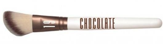 Pensulă pentru fard de obraz - Novara Chocolate No. 19 Taklon Blush/Contour Brush — Imagine N1