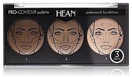 Parfumuri și produse cosmetice Paletă pentru conturarea feţei 3 culori - Hean Pro-Countour Palette