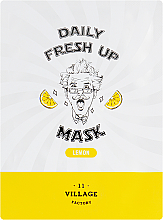 Parfumuri și produse cosmetice Mască din țesătură cu extract de lămâie pentru față - Village 11 Factory Daily Fresh Up Mask Lemon