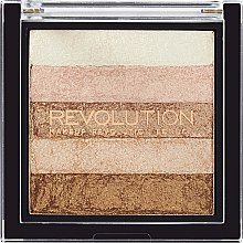 Shimmer pentru față - Makeup Revolution Shimmer Brick — Imagine N1
