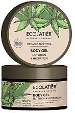 """Parfumuri și produse cosmetice Gel de corp hidratant și hrănitor """"Aloe vera organică și mucină de melc"""" - Ecolatier Organic Aloe Vera Nutrition & Hydration Body Gel"""