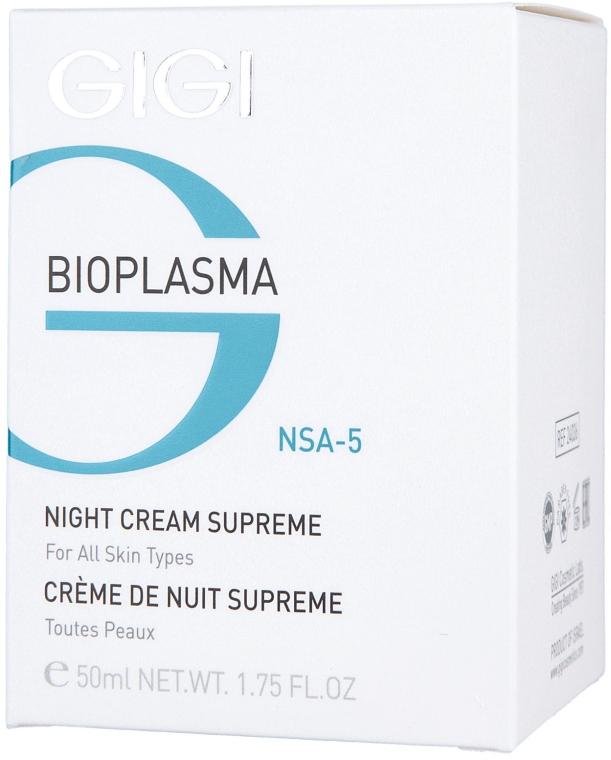 Cremă nutritivă de noapte - Gigi Bioplasma Night Cream Supreme — Imagine N3