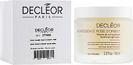 Parfumuri și produse cosmetice Balsam aromatic, îngrijire nocturnă pentru ten sensibil - Decleor Baume Rose d'Orient (tester)