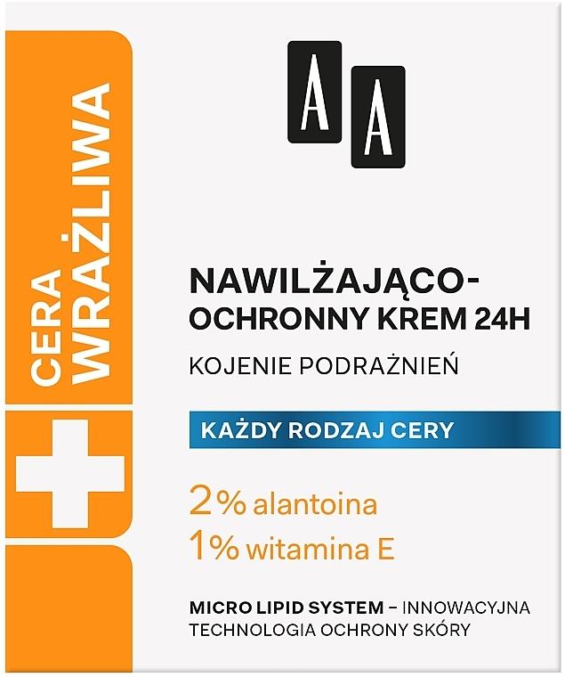 Cremă hidratantă și protectoare - AA Technolgia Wieku Cera Wrażliwa Moisturizing-Protective Cream  — Imagine N1