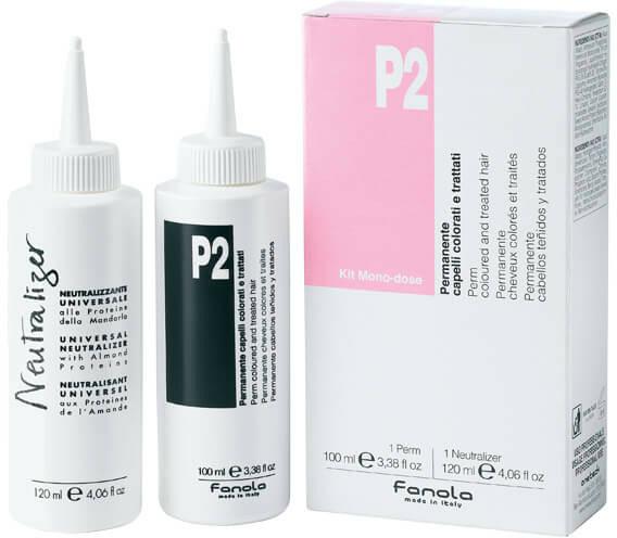 Set pentru ondularea chimică a părului vopsit - Fanola P2 Perm Kit for Coloured and Treated Hair  — Imagine N1