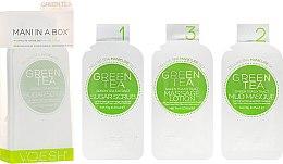 """Parfumuri și produse cosmetice Tratament SPA pentru unghii și mâini """"Ceai verde"""" - Voesh Mani In A Box Green Tea (10 g)"""