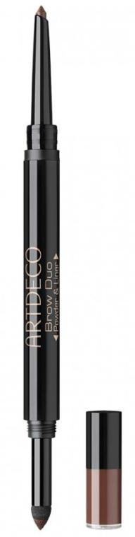 Pudră + creion de sprâncene - Artdeco Brow Duo Powder & Liner — Imagine N1