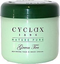 """Parfumuri și produse cosmetice Cremă pentru față și gât """"Ceai verde"""" - Cyclax Nature Pure Green Tea Face & Neck Cream"""